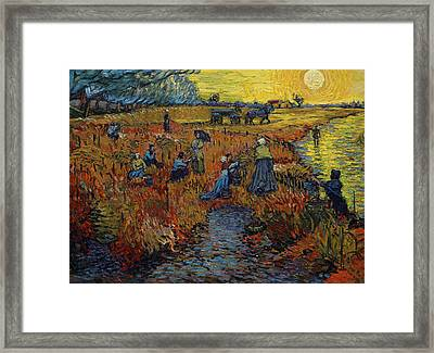 The Red Vineyard Framed Print