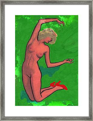 Nude Woman Framed Print by Jay Morino