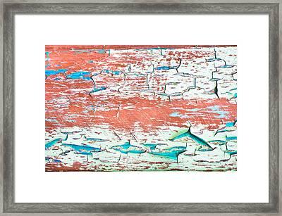Peeling Paint Framed Print