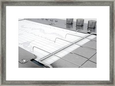 Polygraph Lie Detector Machine Framed Print