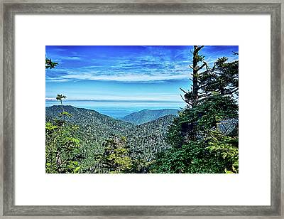 Scenes Along Appalachian Trail In Great Smoky Mountains Framed Print