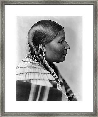 Sioux Native American, C1900 Framed Print