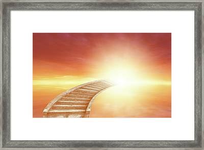 Framed Print featuring the photograph Stairway To Heaven by Les Cunliffe
