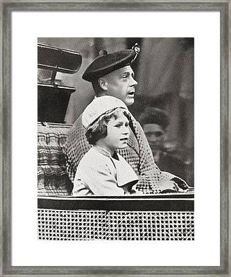 The Prince Of Wales, Later King Edward Framed Print by Vintage Design Pics