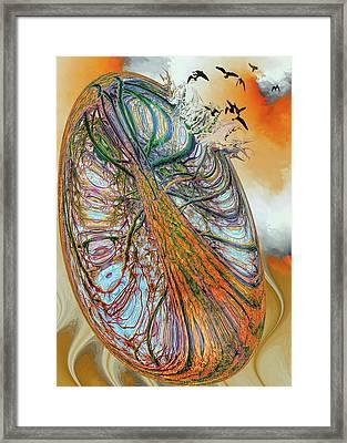 Breaking Away Framed Print