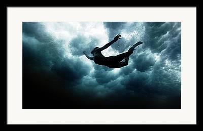 Swim Framed Prints