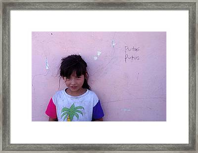 Cuidad Juarez Mexico Color From 1986-1995 Framed Print