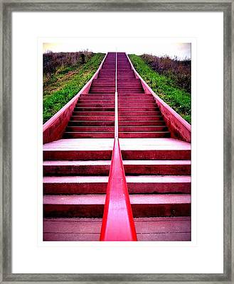 145 Steps To Monks Mound Framed Print by John McGarity