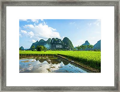 The Beautiful Karst Rural Scenery Framed Print