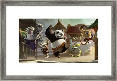148778 Cinema 4d Kung Fu Panda Framed Print