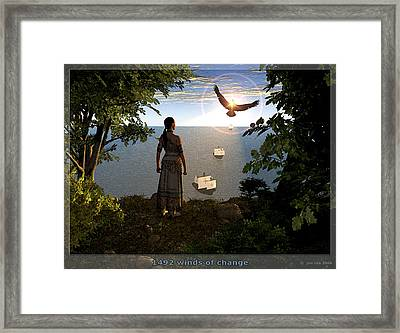 1492 - Winds Of Change Framed Print by Jim Coe