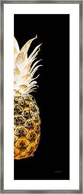 14or Artistic Glowing Pineapple Digital Art Orange Framed Print