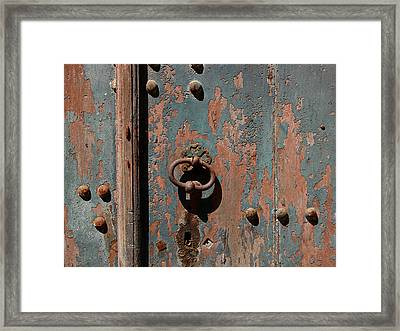 14th Century Door In France Framed Print by Marion McCristall