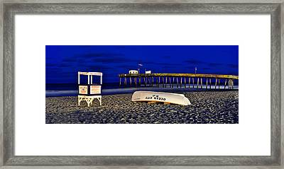 14th St. Night Time Long Exposure Panorama Framed Print