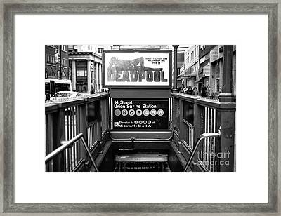 14th Street Union Square Station Framed Print