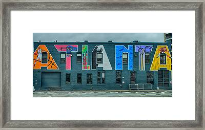 Atlanta Downtown Skyline Scenes In January On Cloudy Day Framed Print