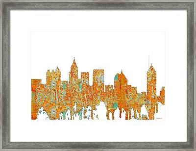Atlanta Georgia Skyline Framed Print