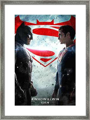 Batman V Superman Dawn Of Justice 2016 Framed Print