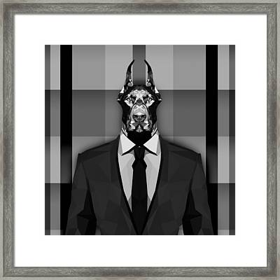 15 Doberman Framed Print by Gallini Design