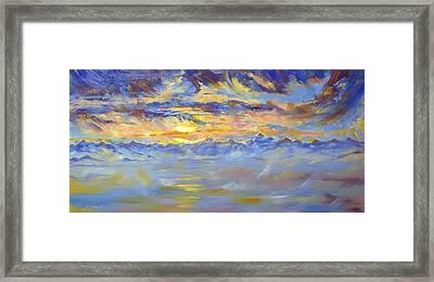 Earth Light Series Framed Print by Len Sodenkamp