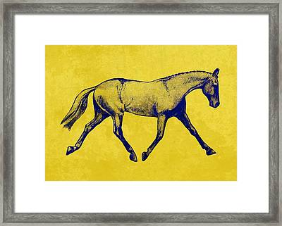 Lengthen Trot Duotone Framed Print by JAMART Photography
