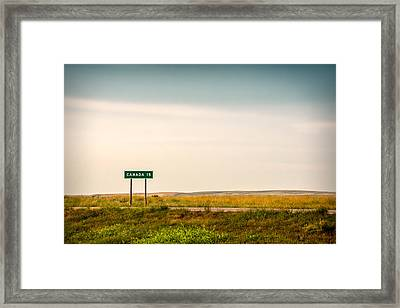 15 Miles From The Border Framed Print