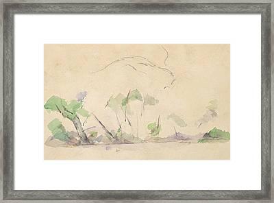 Mont Sainte-victoire Framed Print by Paul Cezanne