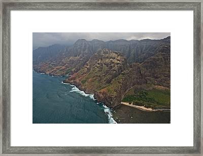 Na Pali Coast Kauai Framed Print by Steven Lapkin