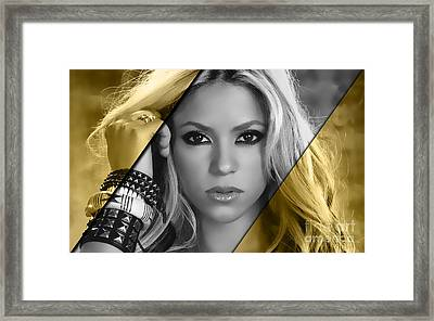 Shakira Collection Framed Print by Marvin Blaine