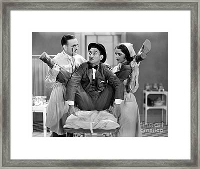 Silent Film Still: Doctor Framed Print by Granger