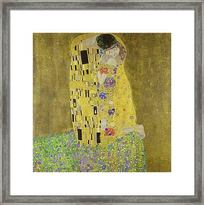 The Kiss Framed Print by Gustav Klimt