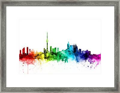 Toronto Canada Skyline Framed Print by Michael Tompsett