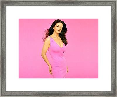 1566 Celebrity Catherine Zeta Jones  Framed Print by F S