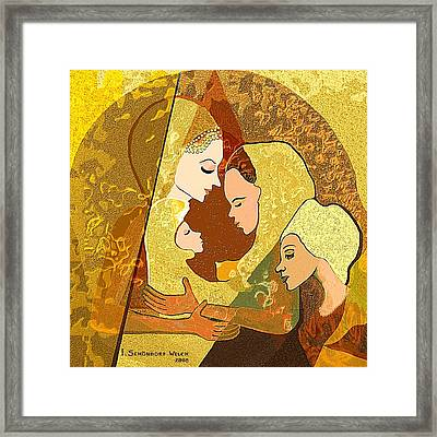 157 - Three Women And A Child Framed Print