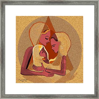 158 - Women With Child 4 Framed Print