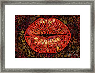 Kissing Lips Framed Print by Amy Cicconi