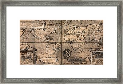 1581 Map By Nicola Van Sype, Showing Framed Print by Everett