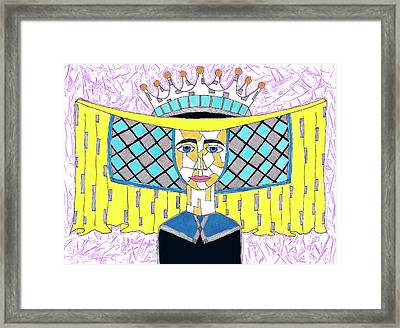 15th Century English Horned Headdress Framed Print by Jeremy Clayton