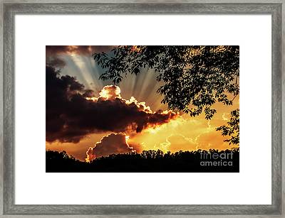Framed Print featuring the photograph Appalachian Sunset by Thomas R Fletcher