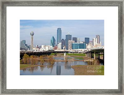 Dallas Texas Framed Print by Anthony Totah
