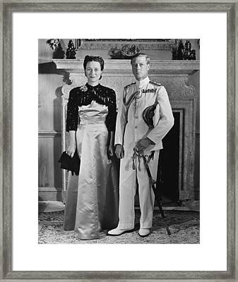 Duchess Of Windsor Wallis Simpson Framed Print