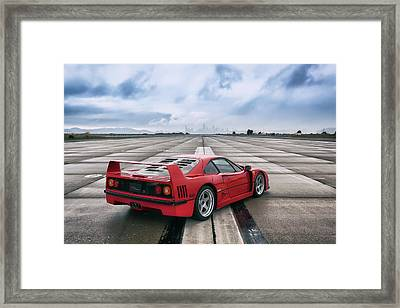 Framed Print featuring the photograph #ferrari #f40 #print by ItzKirb Photography