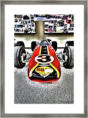 Indy Race Car Museum Framed Print by ELITE IMAGE photography By Chad McDermott