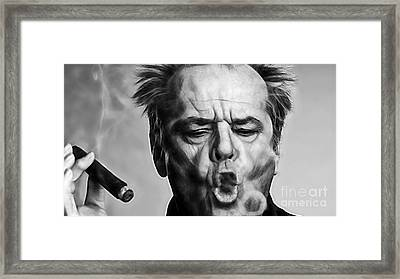 Jack Nicholson Collection Framed Print