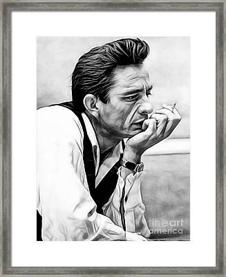Johnny Cash Collection Framed Print