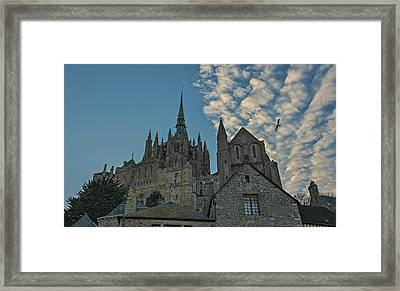 Framed Print featuring the photograph Mont-saint-michel France by Cendrine Marrouat
