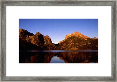 Oil Painting Landscape Pictures Framed Print by Victoria Landscapes