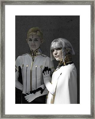 Dio And Lucciola Framed Print by Viktor Savchenko