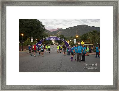 Pikes Peak Marathon And Ascent Framed Print by Steve Krull
