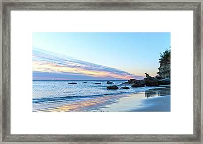 Rocky Daybreak Seascape Framed Print